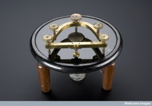 An example of a freezing microtome. Invented in 1881 this type of microtome used ice and salt to freeze specimens. (Credit: Science Museum, London. Wellcome Images.)