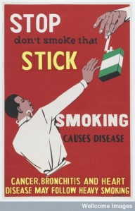 Poster from anti-smoking campaign (195-)
