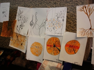 Artistic impressions of neurons at the Wonder Street Fair