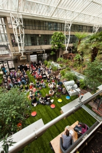 A Packed Lunch talk in the Barbican Conservatory